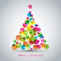 Christmas tree vector illustration abstract Stock Image