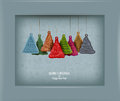 Christmas tree vector illustration authors in Stock Photos