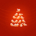 Christmas tree vector illustration authors in Royalty Free Stock Images