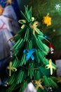 Christmas tree was christened by children.