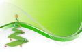 Christmas tree wave background Stock Image