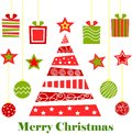 Merry christmas, tree, gifts, holiday, new year, threads, balls, toys