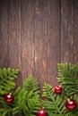 Christmas Tree Wood Background