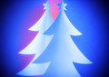 Christmas trees background Royalty Free Stock Photos
