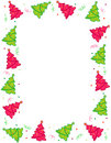Christmas trees border / frame Stock Photography