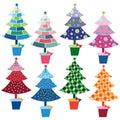 Christmas Trees element Royalty Free Stock Photo