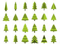 Christmas trees in a flat style. Firs isolation on a white background. Vector
