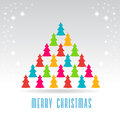 Christmas trees forming a tree Royalty Free Stock Photos