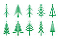 Christmas trees icon Royalty Free Stock Photo
