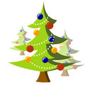 Christmas trees illustration Stock Images