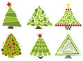 Christmas trees isolated Stock Image