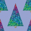 Christmas trees pattern. Happy New Year seamless background. Winter holidays stylish  texture for wallpaper, wrapping paper, Royalty Free Stock Photo