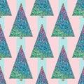 Christmas trees pattern.