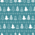 Christmas trees seamless pattern Stock Image