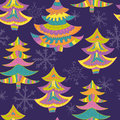 Christmas trees seamless pattern Royalty Free Stock Photo