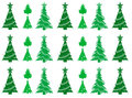 Christmas trees seamless pattern background with abstract Stock Photos