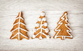 Christmas trees shaped gingerbread cookies yuletide merry chri coniferous forest Stock Photos