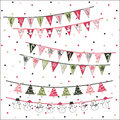 Christmas Triangle Flags Royalty Free Stock Photo