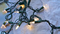 Christmas twinkle lights Royalty Free Stock Photo