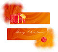 Christmas two banners Royalty Free Stock Image