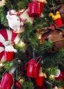 Christmas tyme tree ornament tea pot lamb chicken Royalty Free Stock Photography