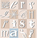 Christmas typographic collage holiday vector Stock Photo