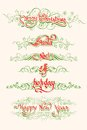 Christmas typography swirls vector illustration of Royalty Free Stock Images