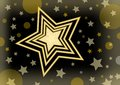 Christmas vector background with a bright star in the middle of small stars and glare Royalty Free Stock Photo