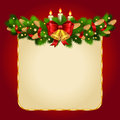 Christmas vector background with fir twigs