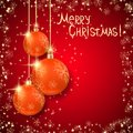 Christmas vector background the with orange balls Royalty Free Stock Photos