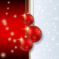 Christmas vector background the with red balls Royalty Free Stock Photo