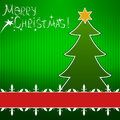 Christmas vector background the with tree Royalty Free Stock Photography