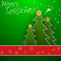 Christmas vector background the with trees Stock Image