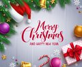 Christmas vector banner and background template with merry christmas greeting