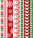 Christmas vector border Royalty Free Stock Images