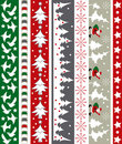 Christmas vector border Stock Image
