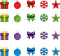 Christmas vector icon set Royalty Free Stock Photos