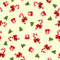Christmas vector pattern with candy Stock Image