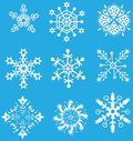 Christmas vector set snowflake Stock Images