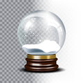 Christmas vector snow globe on checkered Royalty Free Stock Photo