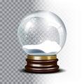 Christmas Vector Snow Globe On...