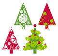 Christmas vector trees Royalty Free Stock Photo