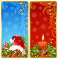 Christmas vertical banners 2 Stock Photo