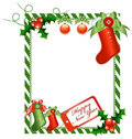 Christmas vertical card Stock Image