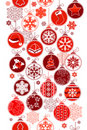Christmas vertical seamless border with balls Stock Image