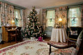 Christmas Victorian living room Stock Image