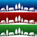 Christmas village with snow seamless pattern Stock Photography