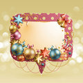 Christmas vintage bubble Royalty Free Stock Photography