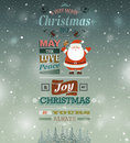 Christmas vintage greeting card Royalty Free Stock Image