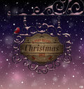 Christmas vintage greeting card Stock Photos